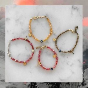 [Boutique] Evil Eye Beaded Charm Bracelet